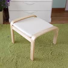 Ottoman Small Comfortable Wooden Stool Ottoman Footstool With Cushion Living