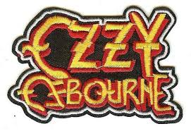 ozzy osbourne iron on patch classic letters logo u2013 rock band patches