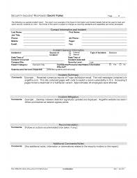Computer Security Incident Report Template by Security Incident Response Plan Template Small Firm