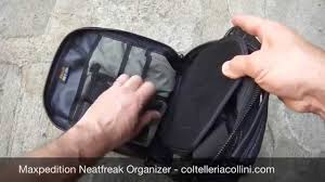 maxpedition neatfreak organizer black 0211 coltelleria collini