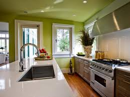 glass kitchen cabinet green kitchen ideas orange chair white