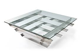 Low Modern Coffee Table Luxor Contemporary Glass Coffee Table With Steel Legs