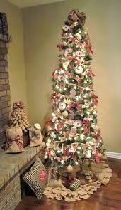 burlap christmas tree burlap homespun christmas tree decorations rags n rhinestones