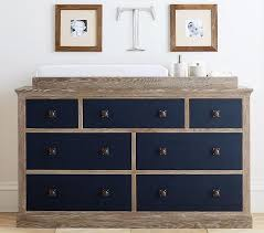 Blue Changing Table Drawer Gray Washed Changing Table Dresser