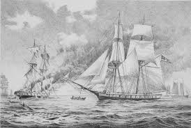 pencil sketch of the battle of lake erie and the uss niagara by
