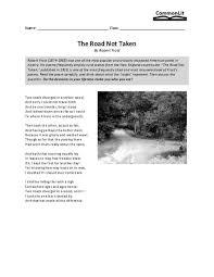 the road not taken worksheet free worksheets library download