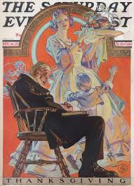 thanksgiving by the numbers nov 1927 saturday evening post j c leyendecker thanksgiving