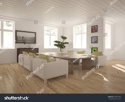 white interior design living room modern stock illustration