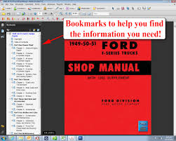 1949 52 ford truck shop manual ford motor company david e