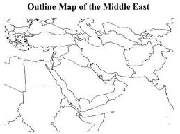 outline map middle east ppt on water scarcity in the middle east