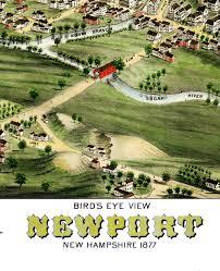 Birds Eye View Map Newport Nh In 1877 Bird U0027s Eye View Map Aerial Panorama