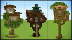 I Have Built A Treehouse - 3 minecraft starter treehouse designs youtube