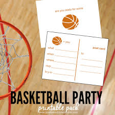 basketball party printable pack sportsmomsurvivalguide com