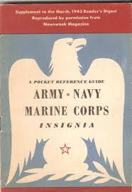 overlooked military surplus army navy marine corps insignia booklet