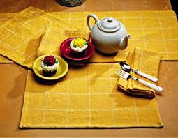 54 inch table runner amazon com ihf burlap check yellow design table runner 100 pure