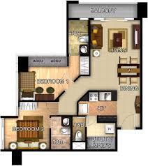 2 bedroom condo floor plans three central makati condo by megaworld home condo