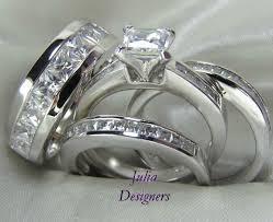 Trio Wedding Ring Sets by Wedding Rings Wedding Ring Sets Him And Her Trio Wedding Sets