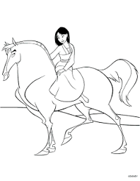 mulan horse coloring pages coloring pages
