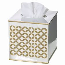 amazon com diamond lattice gold tissue box cover square 6