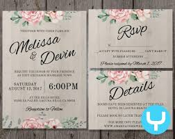printable wedding invitation kits printable floral wedding invitation kit templates rsvp details