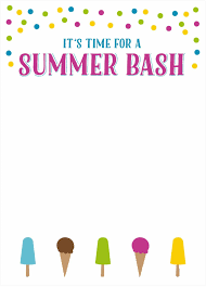 summer party invite baby shower printable invitations designs for