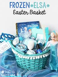 inexpensive easter baskets frozen elsa easter basket my s suitcase packed with