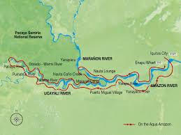 Amazon River World Map by Amazon River Cruise Peru Luxury Cruises Aqua Amazon 7 Night Cruise
