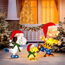 lighted dog christmas lawn ornament ice skating peanuts lighted outdoor christmas decoration improvements