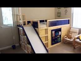 Stolmen Bed Hack Ikea Hack Kura Bed With Slide And Secret Room Design Youtube