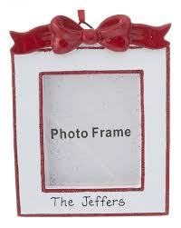 bow photo frame personalized ornament