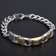 silver bracelet styles images Fashion cool gift 6 styles men chain boy silver gold black greek jpg
