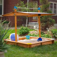wooden sandbox with roof large children u0027s outdoor canopy play