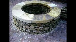 stone backyard fire pit photo with cool pavers backyard patio
