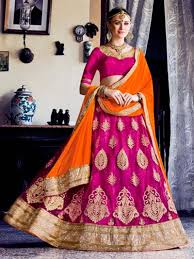 rani pink colour pink color designer new party wear lehenga