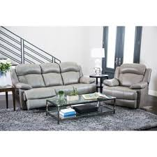 3 2 Leather Sofa Deals Abbyson Clarence Top Grain Leather Reclining 3 Piece Living Room