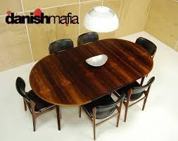 mid century danish modern rosewood kai kristiansen oval dining