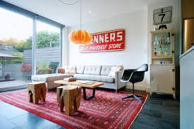 vintage livingroom trinity bellwoods townhouse midcentury living room toronto