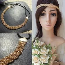 s headbands dhl wholesale price women s braided elastic headband pop corn