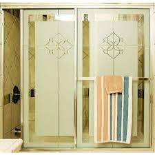 Make Your Own Shower Door Delta 60 In Sliding Shower Door Glass Panels In Clear 1 Pair