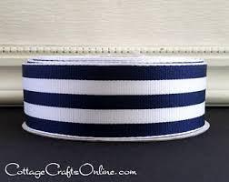 navy and white striped ribbon blue and white stripe grosgrain ribbon etsy