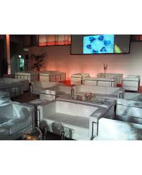 White Le Corbusier Style  Seater Sofa City Furniture Hire - Corbusier sofas