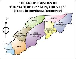 Tennessee Map With Counties by State Of Franklin Wikipedia