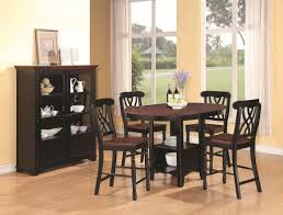 addison black and cherry wood pub table set steal a sofa