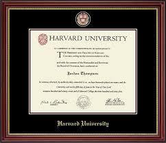 harvard diploma frame harvard masterpiece medallion diploma frame in