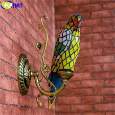 Stained Glass Wall Sconce Fumat Parrots Wall Sconce Ls Stained Glass Decor Wall Lights