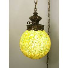 retro hanging swag light ceiling moon rock lamp
