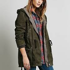 Free People Parka Free People Womens Solid Knit Mixed Cargo From Free People The