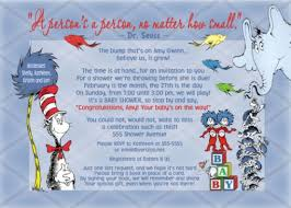 dr seuss baby shower invitations dr seuss cat in the hat horton baby shower invitation no photo