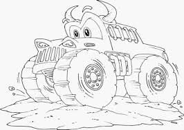 bulldozer monster truck coloring pages printable kids colouring to