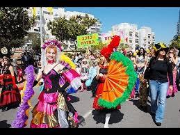 purim celebration in israel
